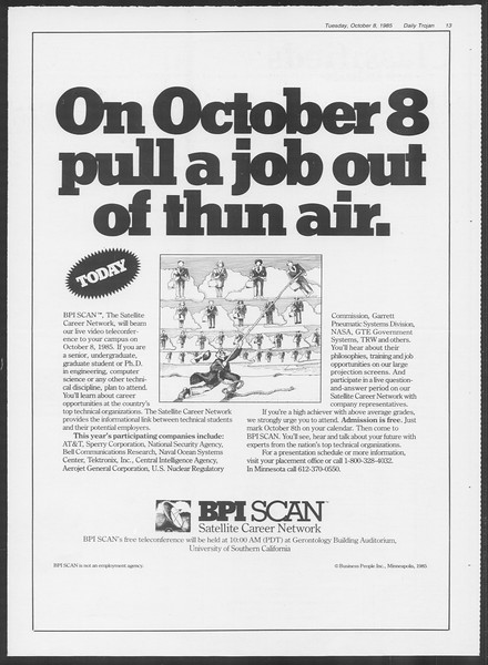Daily Trojan, Vol. 100, No. 26, October 08, 1985