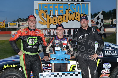 """ARCA Midwest Tour """"Salute the Troops 100"""" Victory Lane"""