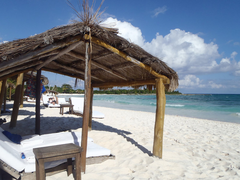 . The beach at Esencia Resort is worth the trip south of Playa del Carmen and the extra money you have to pay to use it.   (Kyle Wagner/Special to the Denver Post)