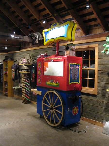 Animaland stuff-your-own-toy cart in the Lucky Miner store.