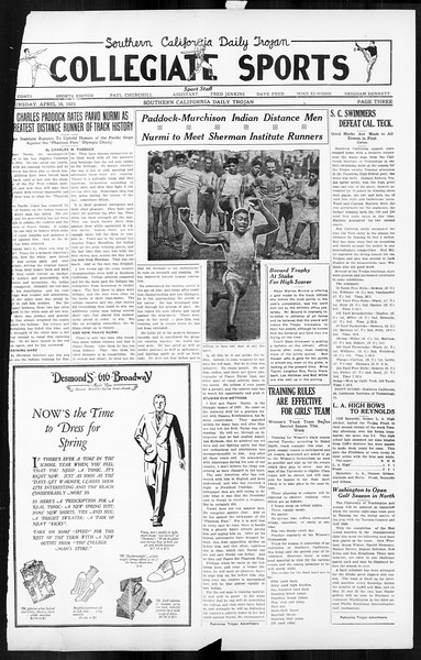 Daily Trojan, Vol. 16, No. 85, April 16, 1925