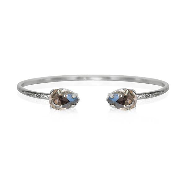 Petite Drop Bracelet / Black Diamond / Rhodium
