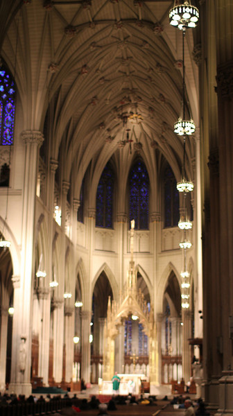 service at St. Patrick's Cathedral