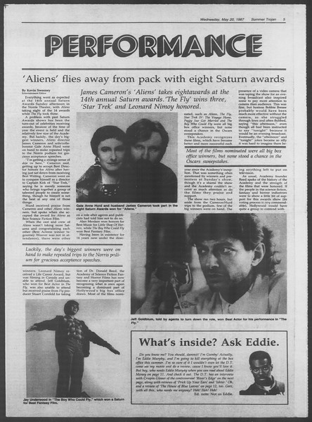 Summer Trojan, Vol. 104, No. 1, May 20, 1987