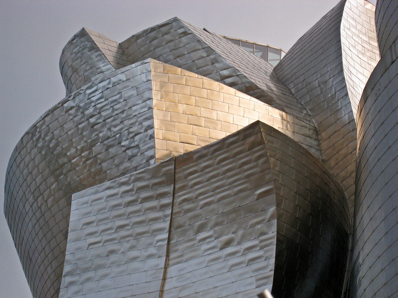 Close up of the roof of the Guggenheim museum, Bilbao. (Dec 10, 2007, 08:34am)