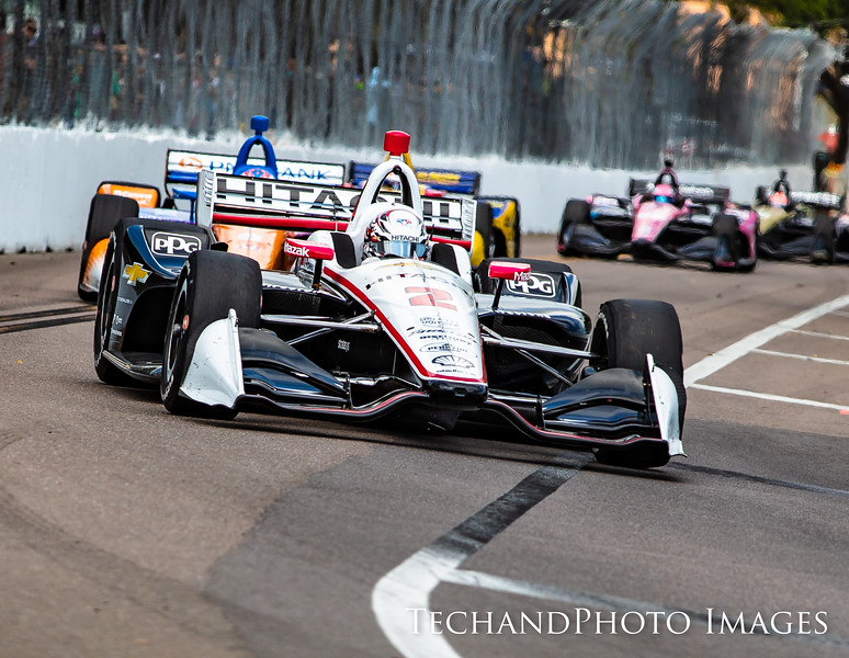 Josef Newgarden bring a pack with him at The Firestone Grand Prix of St Petersburg held on Sunday  March 10th