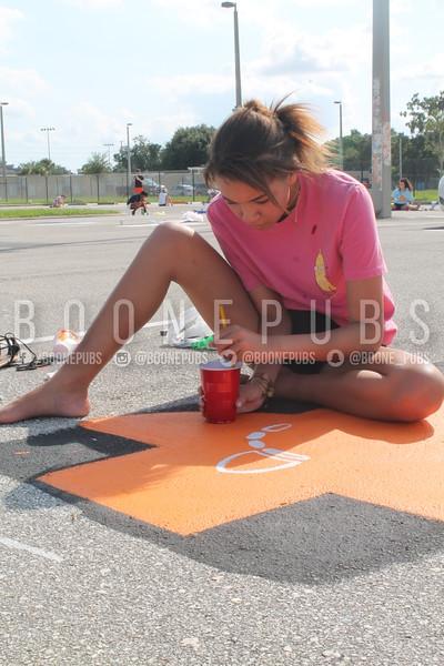 Senior Parking Lot painting 9-6
