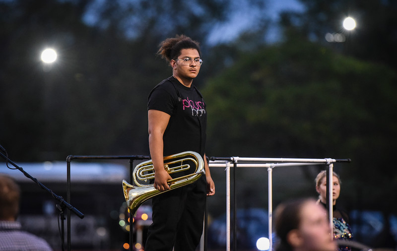 Philipsburg High School Marching Band performs in the Piscataway High School Band Festival, Sept. 28, 2019.