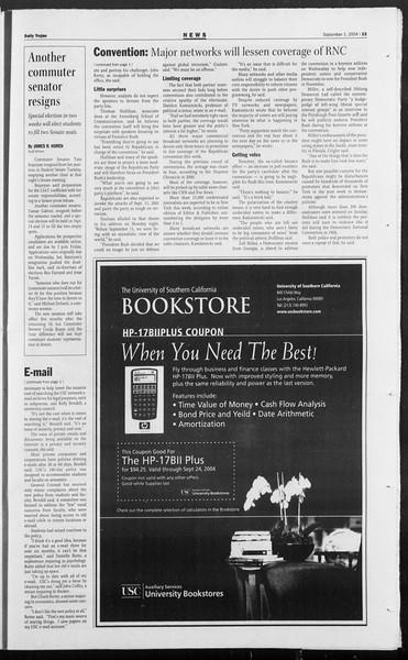 Daily Trojan, Vol. 153, No. 8, September 01, 2004