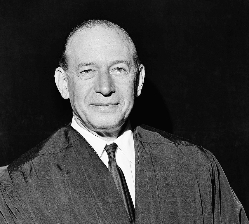 . Associate Justice Abe Fortas of the Supreme Court poses in his judicial robes in Washington DC, Jun. 26, 1968. He took his oath at the opening at the session of the court\'s new fall term. (AP Photo/Charles Tasnadi)