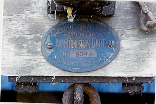 MODEL OF 1917 MACHINE GUN CART #8945