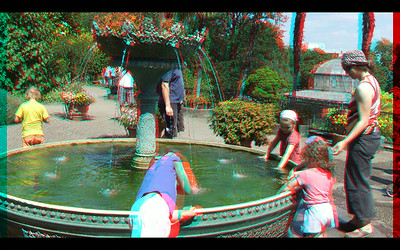 Fountains and Waterfalls, Rivers and Streams,   in Anaglyph Stereo