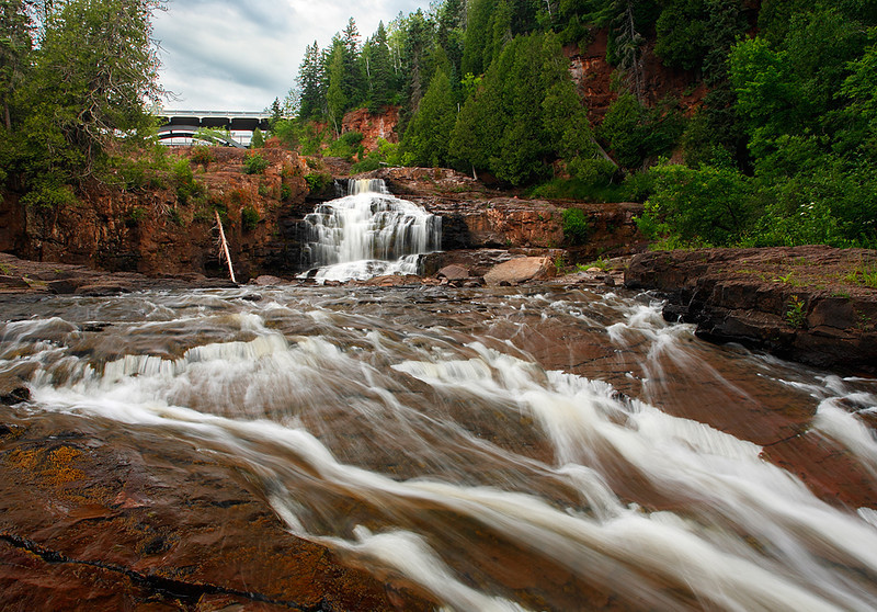 Hidden Bridge - Lower Gooseberry Falls (Gooseberry Falls State Park - Minnesota)