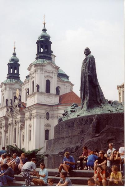 John Huss statue, Prague, Czech Rep.