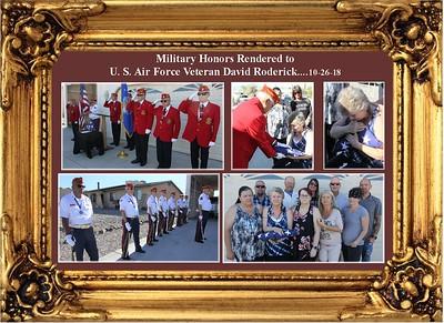 10-26-18  Service for USAF Veteran David Roderick
