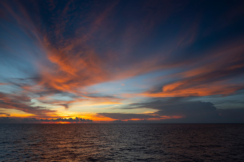 Sunset in the Sulu Sea, Philippines
