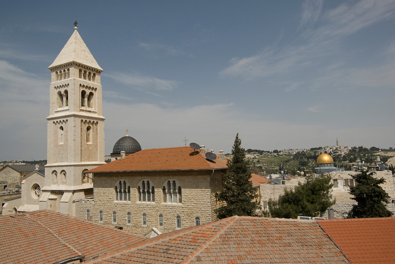 Tower of the Lutheran Church of the Redeemer in Jerusalem, Israel