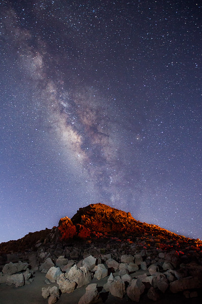 The milkyway as seen fron the Visitors Center at the top of Haleakala National Park
