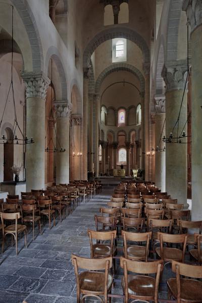 Saint-Nectaire Abbey Nave and Choir