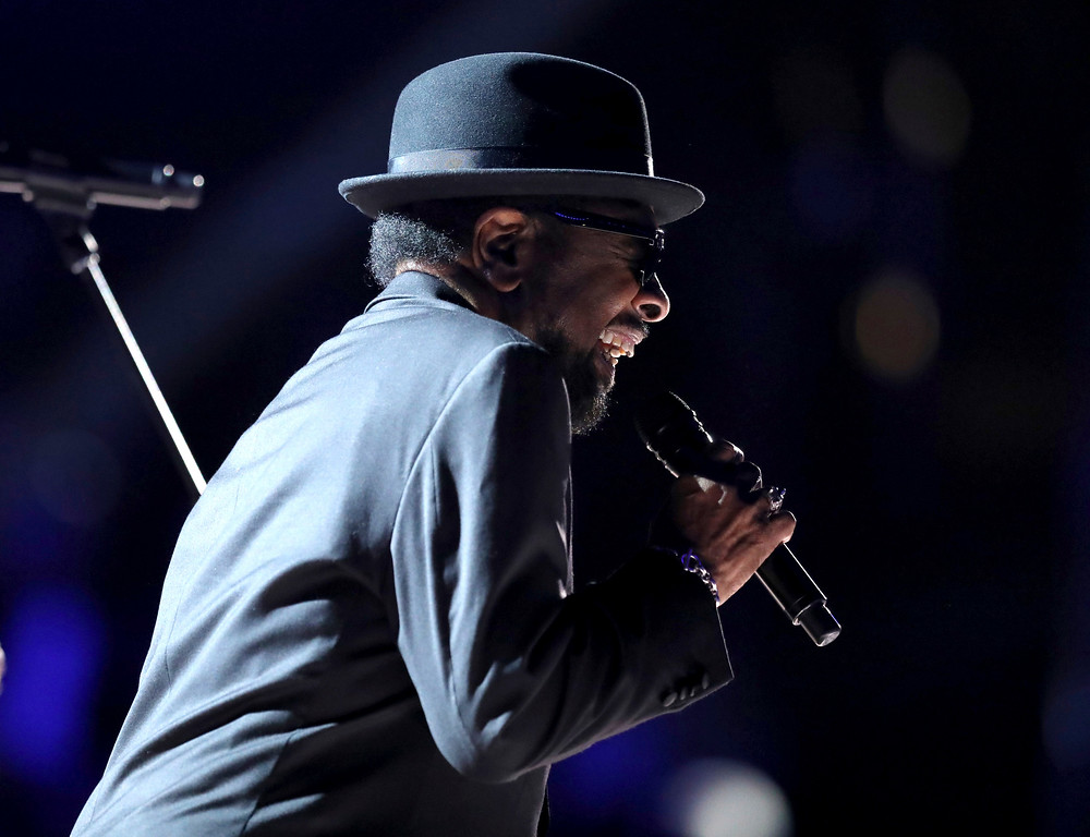 ". William Bell performs ""Born Under a Bad Sign\"" at the 59th annual Grammy Awards on Sunday, Feb. 12, 2017, in Los Angeles. (Photo by Matt Sayles/Invision/AP)"