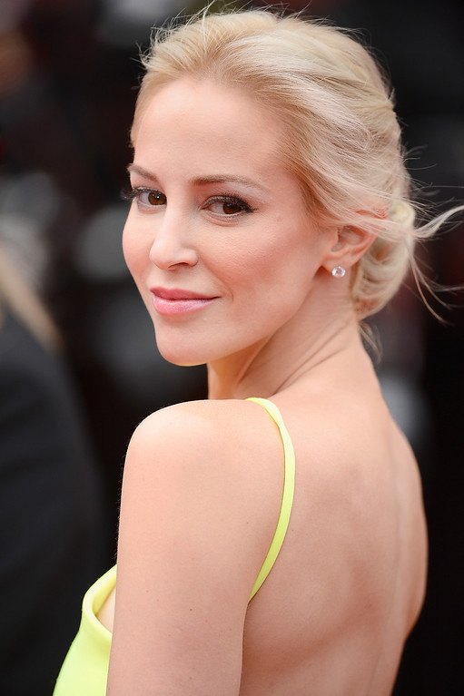 """. Louise Linton attends the \""""Foxcatcher\"""" premiere during the 67th Annual Cannes Film Festival on May 19, 2014 in Cannes, France.  (Photo by Ian Gavan/Getty Images)"""