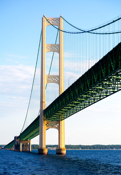Of course it's our last look at the great Mackinac Bridge ...