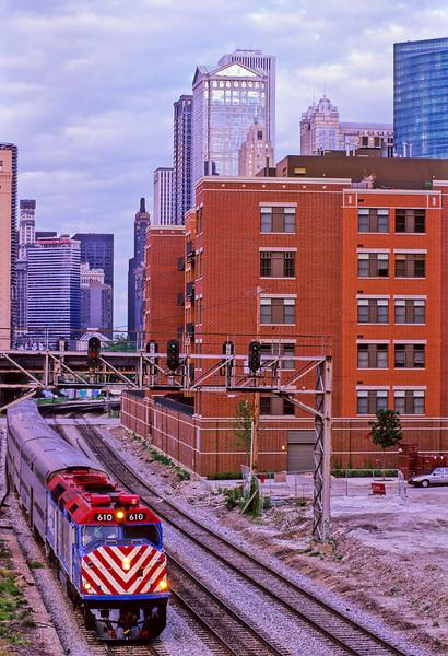 Metra train Chicago