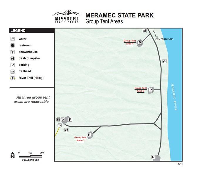 Meramec State Park (Group Tent Areas)