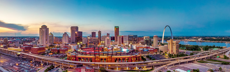Busch Stadium III and Downtown