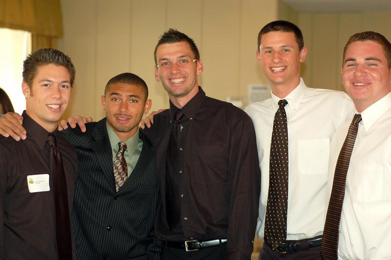 Roman Todorovich (wrestling/football), Ryan Solomon (track/football), Lenny Linsky (baseball), Rob Babek (basketball) and Ryan Reese (football)