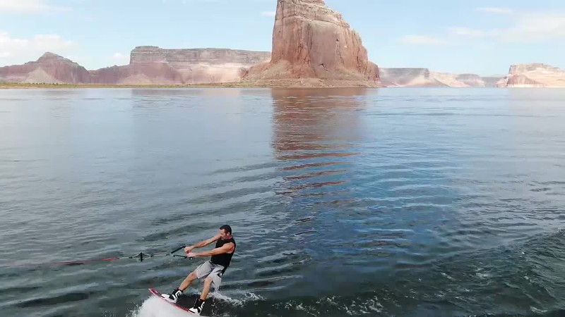 Cowboy Cilley Riding in Lake Powell