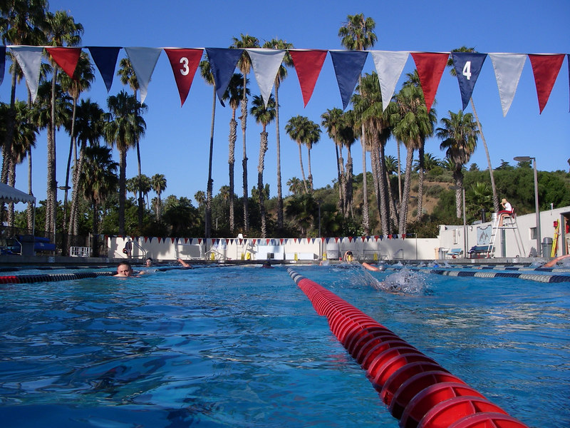 I was delighted to be able to work out at my old pool every morning before heading off to the office at the harbor.  I had to take pictures to show how awesome this pool really is!  (looking west)