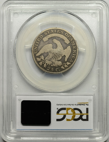 1818 QUARTER DOLLAR - CAPPED BUST, LARGE SIZE PCGS G6 CAC Reverse