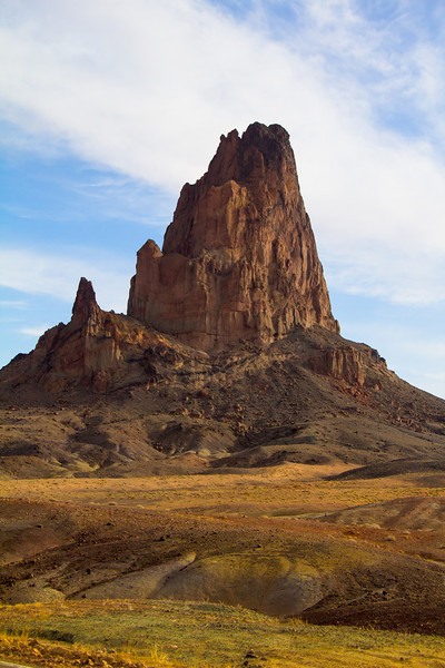 On the way to Monument Valley from Arches National park is Church Rock, the first glimse of rock formations projecting high above ground level.