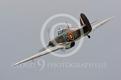 Flying British RAF Hawker Hurricane Airplane Pictures