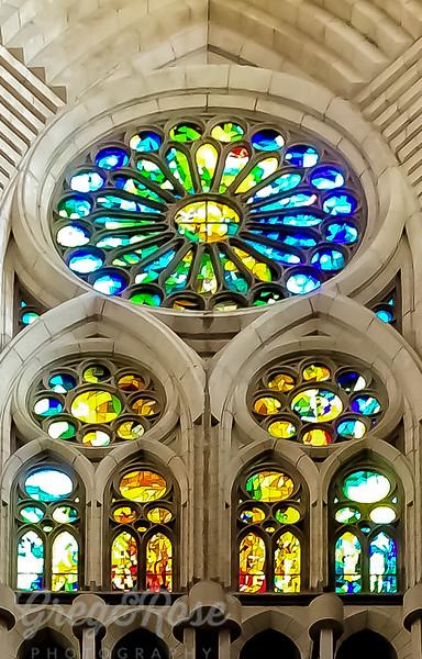 The beautiful windows and forms of Sagrada Familia