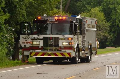 08-25-20 Conesville FD - Pickup Truck Fire
