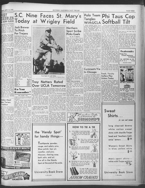 Daily Trojan, Vol. 30, No. 115, April 14, 1939