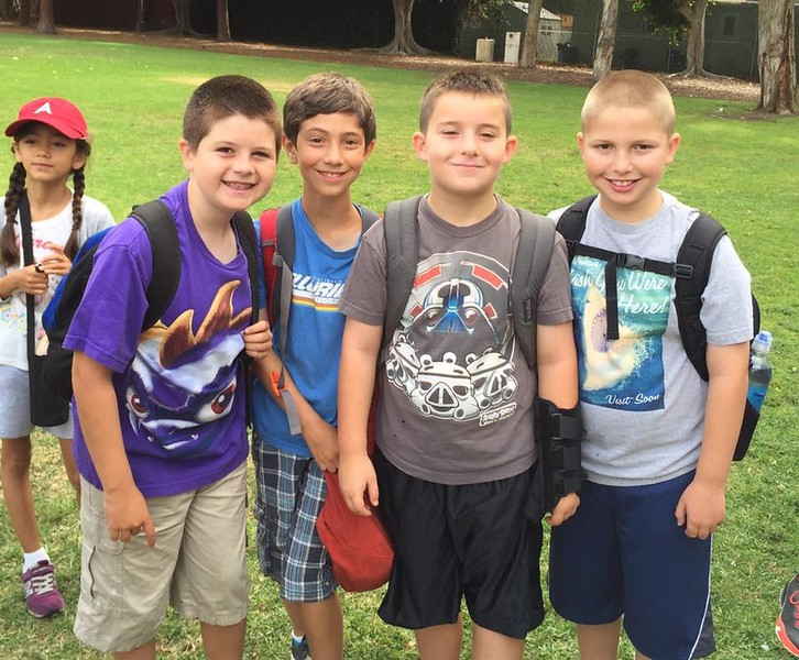 Zachary and friends before Akiba Resident Camp 7-22-15.jpg