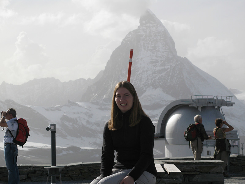Becky with the Matterhorn in the background