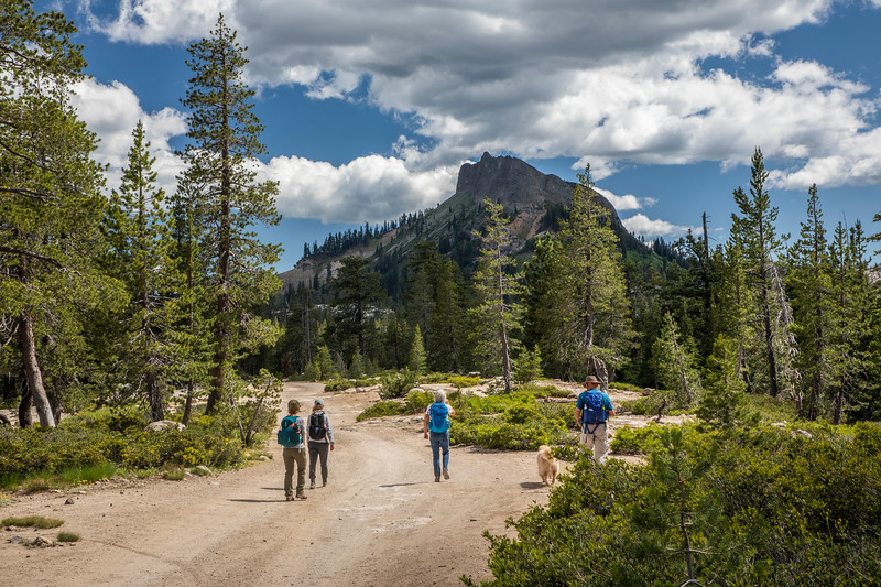 Hikers on Donner Summit