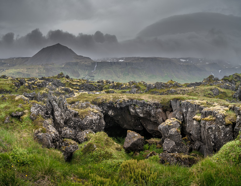 Lava Cave In Iceland Photography by Wayne Heim