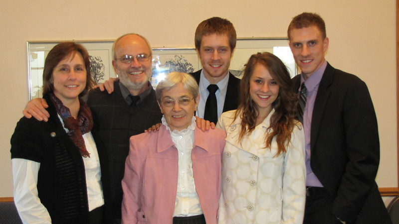Giombi family- Laurie, Danny, Jered, Kyle, Grandma Myrtle and Molly