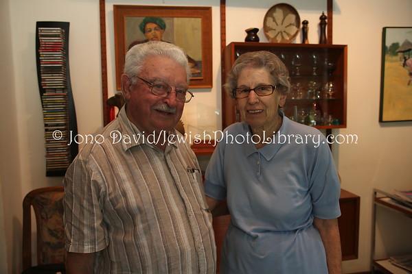 ZAMBIA, Lusaka. Simon and Cynthia Zukas, at their Lusaka home (2.2013)