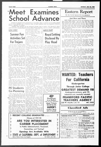 Summer News, Vol. 11, No. 9, July 23, 1956