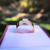 0.40ct Carre Cut Rose Gold Band 24