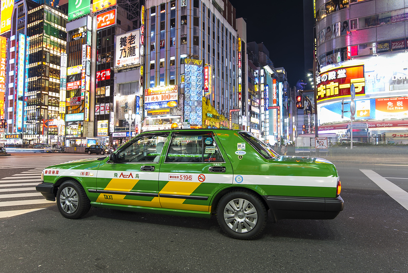Tokyo Taxi. Editorial credit: Savvapanf Photo / Shutterstock.com