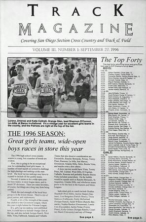 San Diego Track Magazine Original Issues