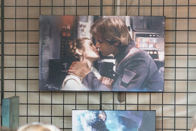 Han Solo Princess Leia Kiss - Art - Epcot International Festival of the Arts 2017