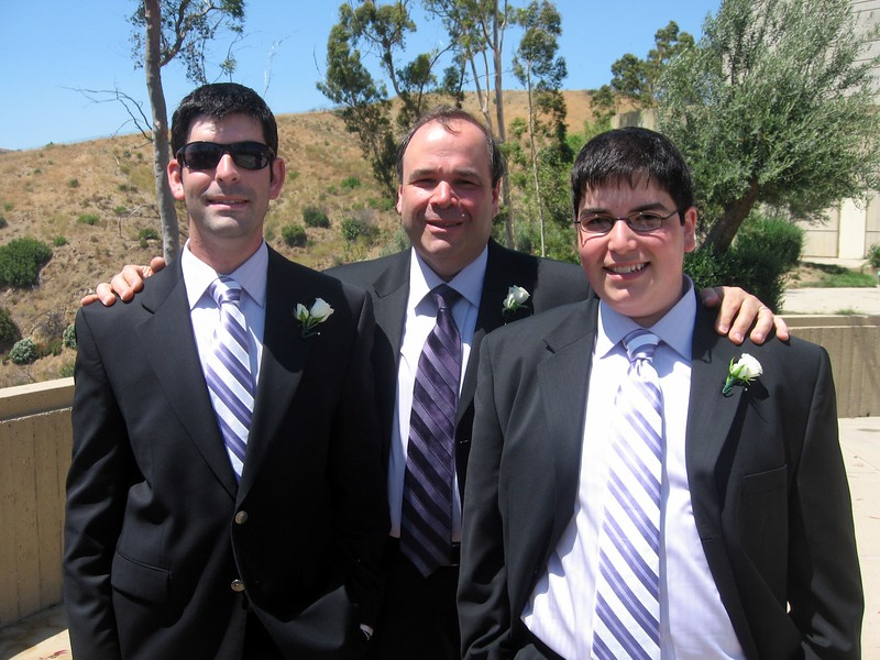 Gary (father of the bride) and David and Jordan (brothers of the bride)